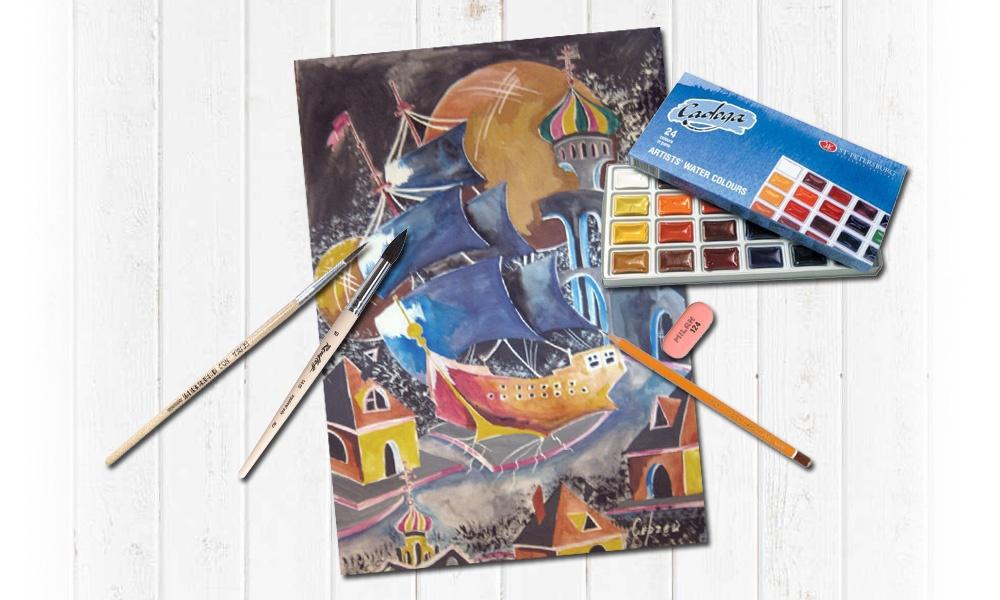 Картина акварельными красками