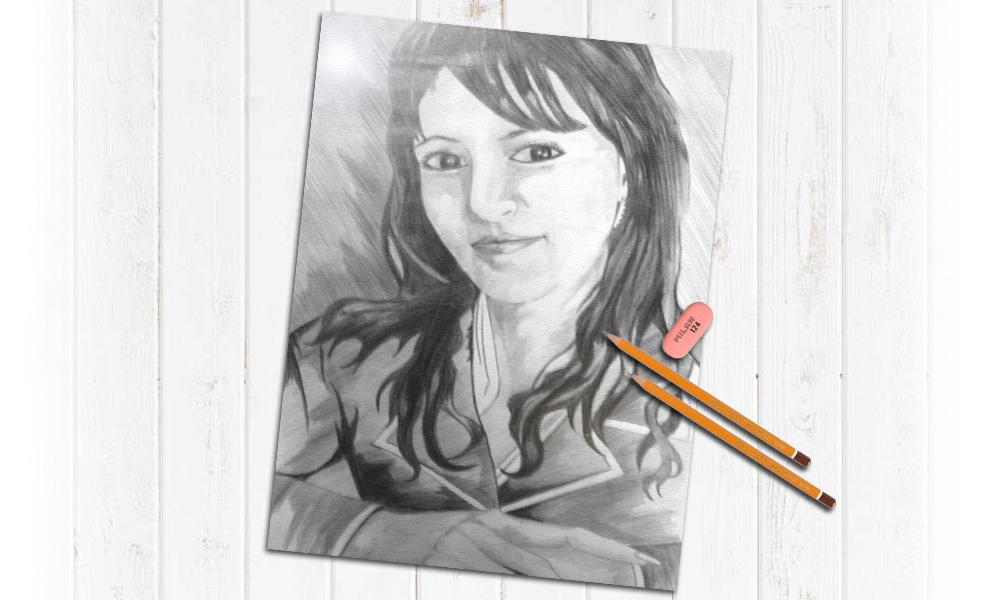 Заказать портрет карандашом на ватмане