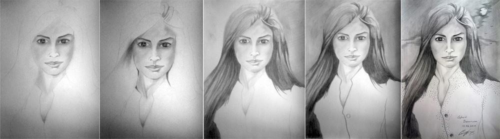 Портрет карандашом на ватмане поэтапно