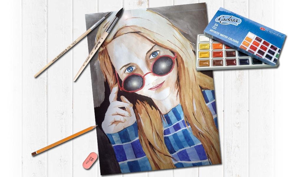 Акварельными красками на заказ портреты