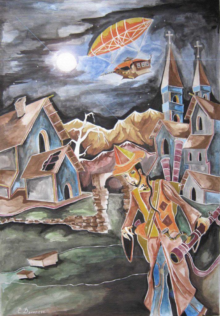 Картина нарисованная красками