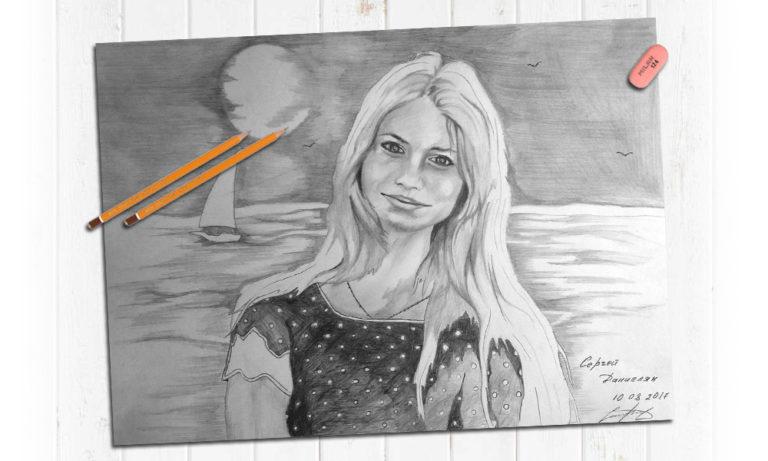 Нарисовать портрет девушки
