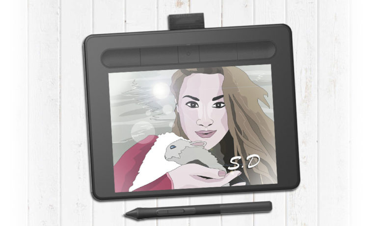 Цифровой портрет для девушки на заказ