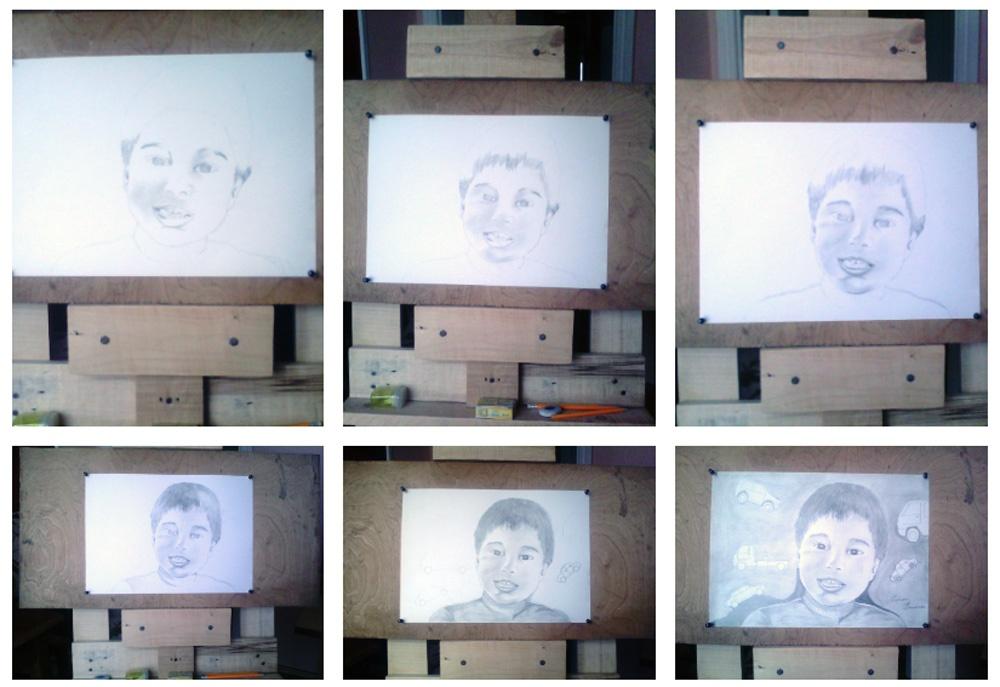 Портрет карандашом мальчика