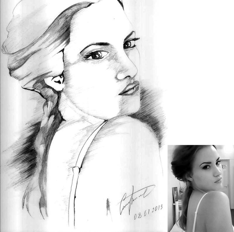 Красивые портреты, карандашом на заказ
