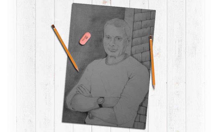 Портрет мужчины карандашом в Воронеже на заказ