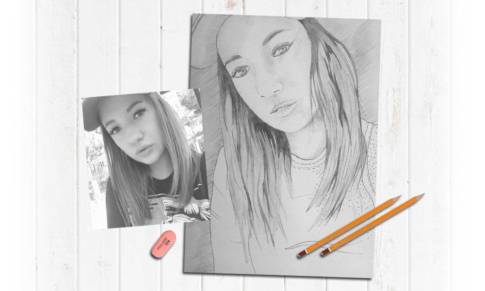 Современная техника рисования портретов